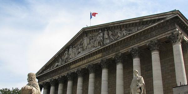 Palais Bourbon abritant l'Assemblée nationale