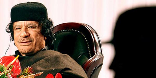 Le dictateur Kadhafi