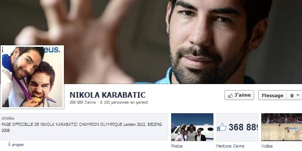 Page Facebook Nikola Karabatic