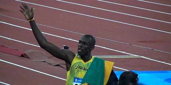 Usain Bolt lors de sa victoire aux JO de Londres