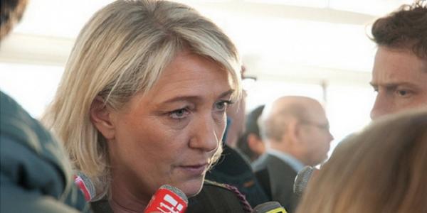 Présidente du Front national Marine Le Pen