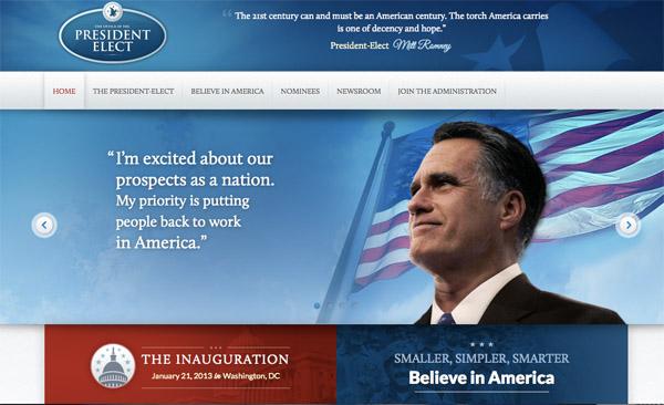 Mitt Romney Président des USA