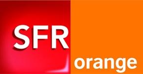 Logos SFR et Orange