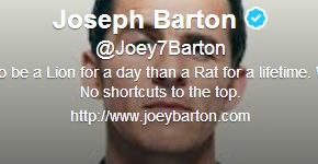 Joseph Barton, compte Twitter