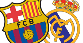 Logo Real Madrid et FC Barcelone