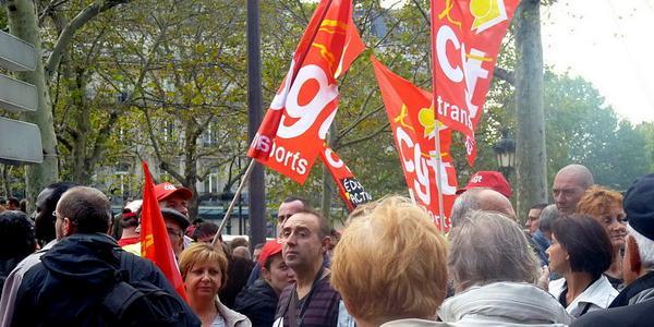 Manifestation de fonctionnaires à Paris