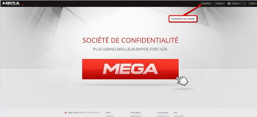 Accueil du site Mega