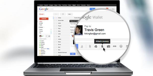 Intégration du paiement électronique depuis Gmail avec Google Wallet