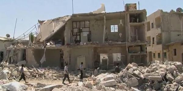 Bâtiments détruits en Syrie