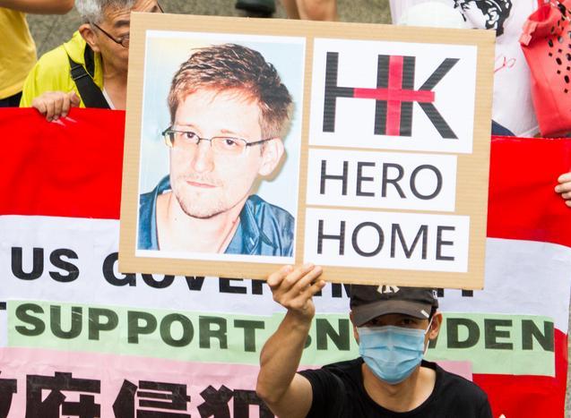 Manifestation de soutien à Edward Snowden