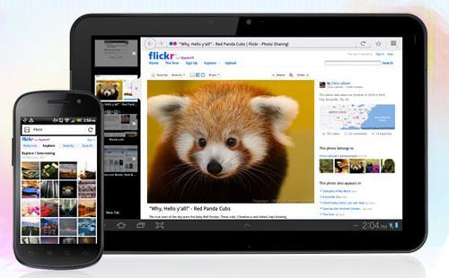 Mozilla Firefox sur smartphone et tablette