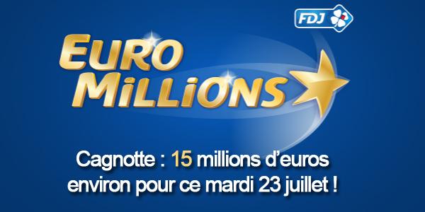 Cagnotte Euromillions du 23 juillet
