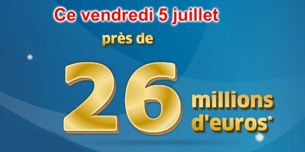 Cagnotte Euromillions 5 juillet 2013