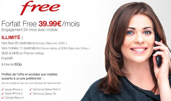 Forfait Free 39.99€
