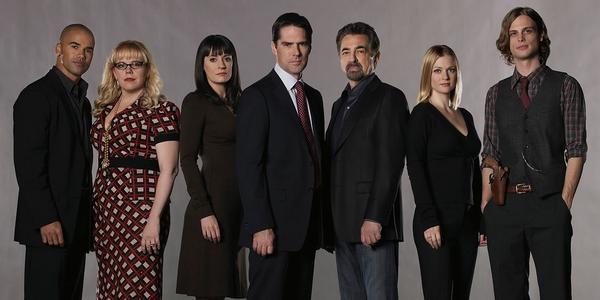 L'équipe d'enquêteurs de la série TV Esprits Criminels