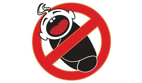 Panneau d'interdiction aux enfants