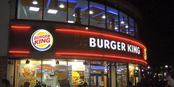 Enseigne d'un Fastfood Burger King