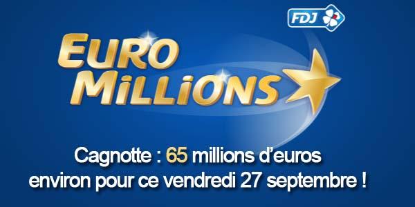 Résultats Euromillions du vendredi 27 septembre