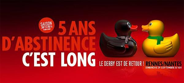 Canard sexy Stade Rennais-Nantes
