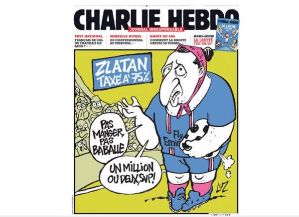 Une de Charlie Hebdo avec Zlatan Ibrahimovic