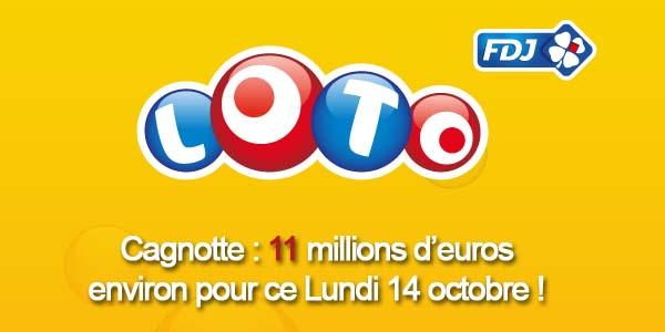 Résultats Loto du lundi 14 octobre