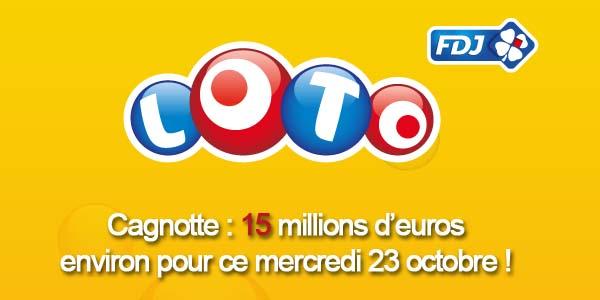 Résultats loto du mercredi 23 octobre