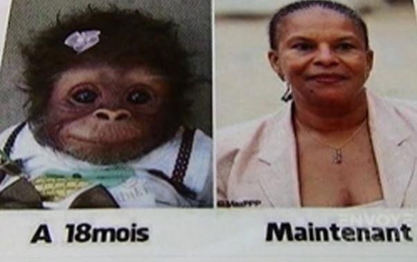 Taubira comparée à un singe par le FN