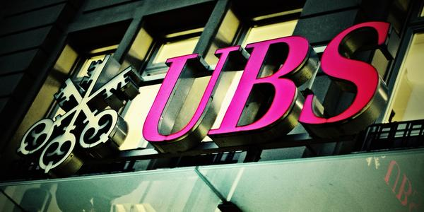 Façade d'une banque UBS