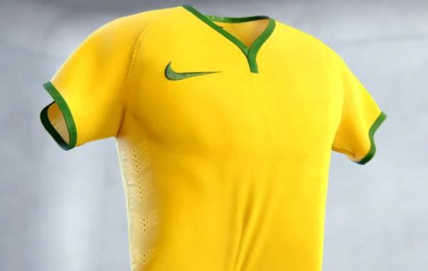 Maillot de l'équipe de football du Brésil pour la Coupe du monde 2014