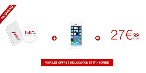 Offre location mobile Free
