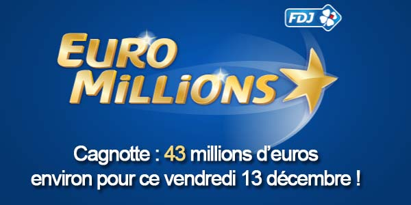 Résultats Euromillions du vendredi 13 décembre