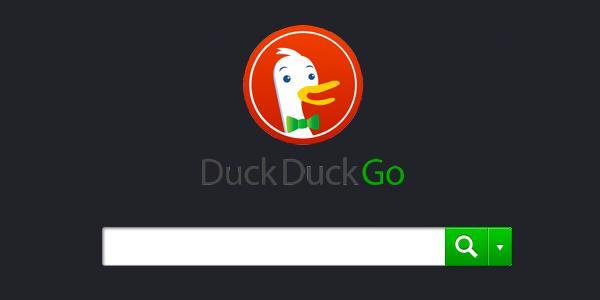 Page d'accueil de DuckDuckGo