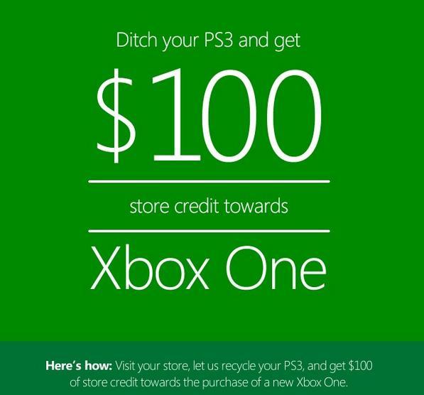 Bon de réduction pour l'achat d'une Xbox One
