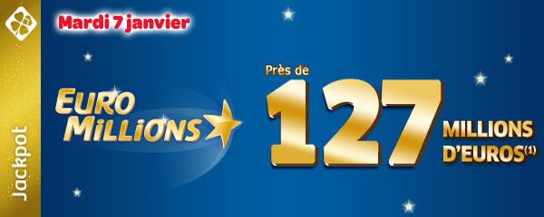 Tirage Euromillions du 7 janvier 2013