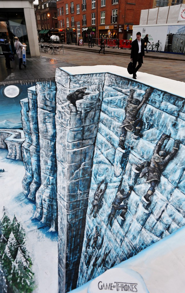 Trompe-l'oeil de Game of Thrones à Londres
