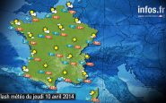 Prévisions météo (France) du jeudi 10 avril