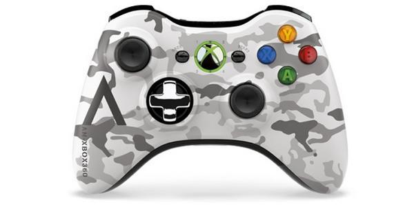 """La manette pour Xbox 360 en édition """"Arctic Camouflage"""""""