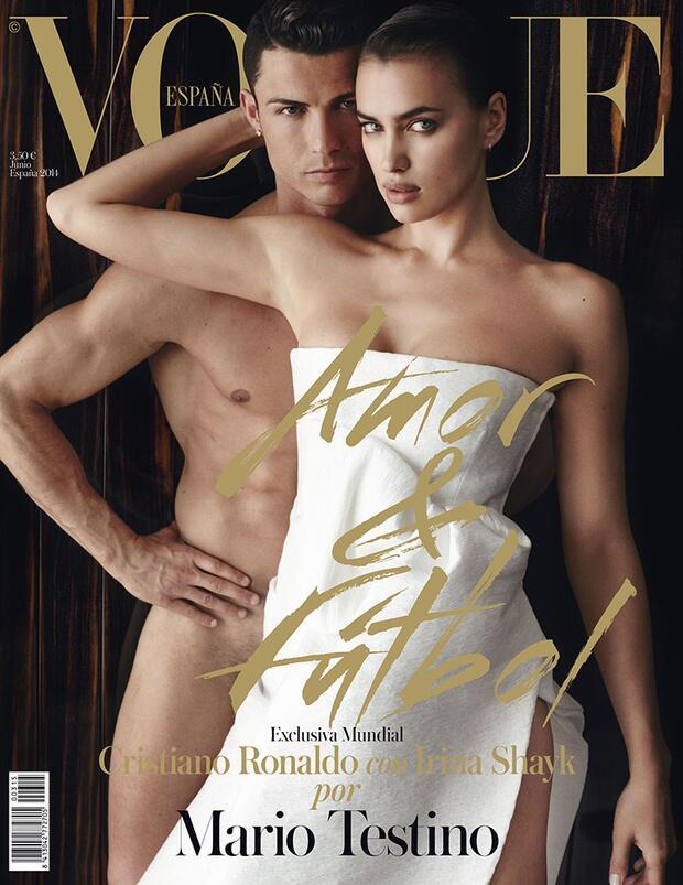 Couverture Vogue avec Cristiano Ronaldo Nu - Crédits : Vogue