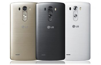 Vue arrière du LG G3