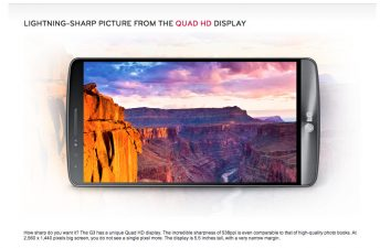 Mode paysage du LG G3