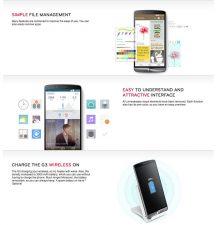 Interface du LG G3