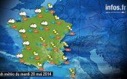 Prévisions météo (France) du mardi 20 mai