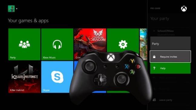 Interface de la Xbox One
