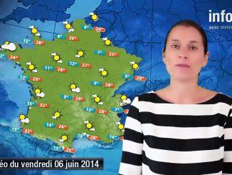 Prévisions météo (France) du 6 juin 2014