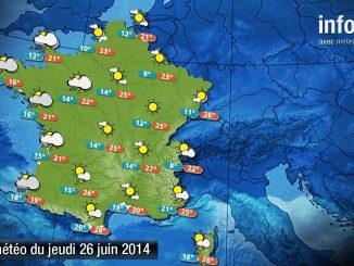 Prévisions météo (France) du jeudi 26 juin