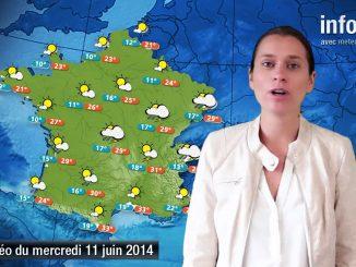 Prévisions météo (France) du mercredi 11 juin