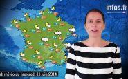Prévisions météo (France) du vendredi 13 juin 2014