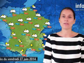 Prévisions météo (France) du vendredi 27 juin