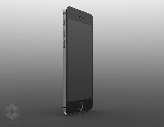 Maquette de l'éventuel iPhone 6 en rendu 3D