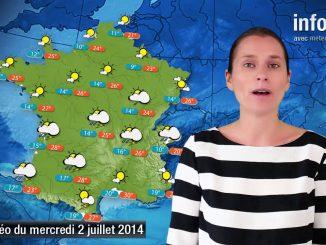 Prévisions météo (France) du mercredi 2 juillet